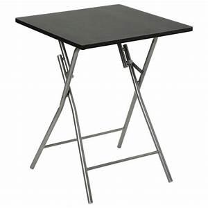 Table Pliante Noire : table pliante 75cm basic noir ~ Teatrodelosmanantiales.com Idées de Décoration