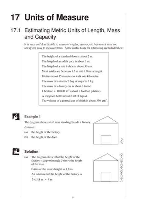 ks3 units of measurement mep year 8 unit 17 by cimt