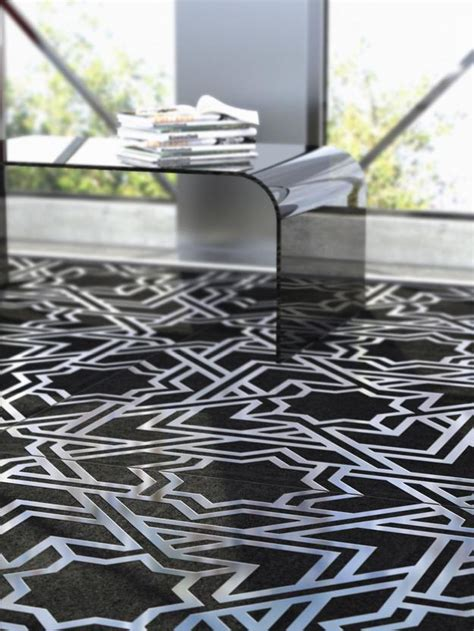 modern tile designs blending concrete  metal