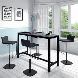 Table De Cuisine Grise : table haute de cuisine hauteur 110 cm en stratifi et m tal 160 x 60 cm vienna 4 ~ Dode.kayakingforconservation.com Idées de Décoration