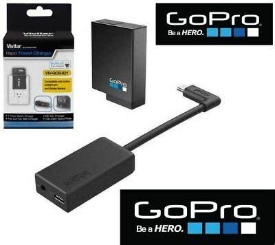 original gopro hero    black pro mm mic adapter extra battery charger ebay