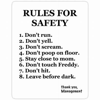 Fnaf Rules Freddy Sticker Nights Five Stickers