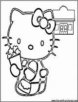Popcorn Coloring Hellokitty Kitty Hello Printable Sketches sketch template