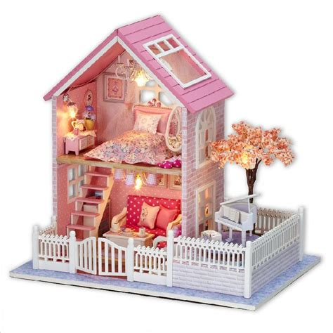 New Brand Diy Wood Doll Houses Wooden Unisex Home