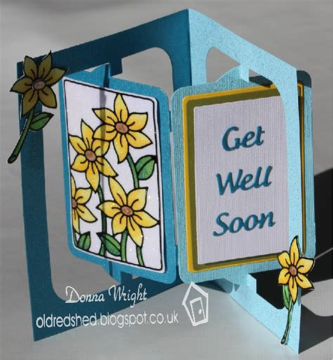 get well soon pop up card template get well soon with glittered sunflowers panel card by