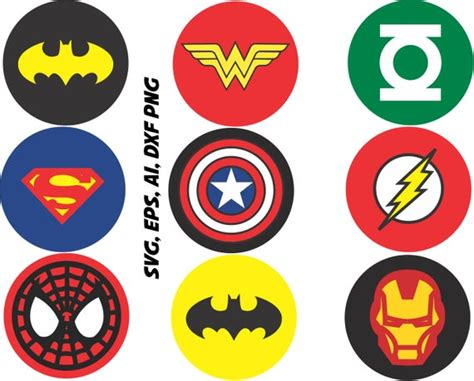 Superhero Logos Svg Captain America Ironman Batman Etc In
