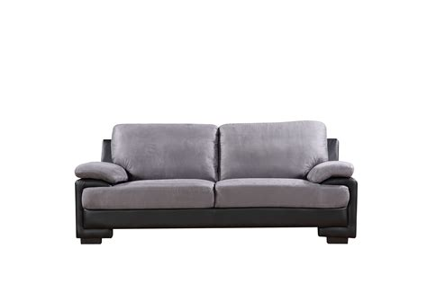 Gray Leather Loveseat by Faux Leather Brush Microfiber Sofa Loveseat Furniture