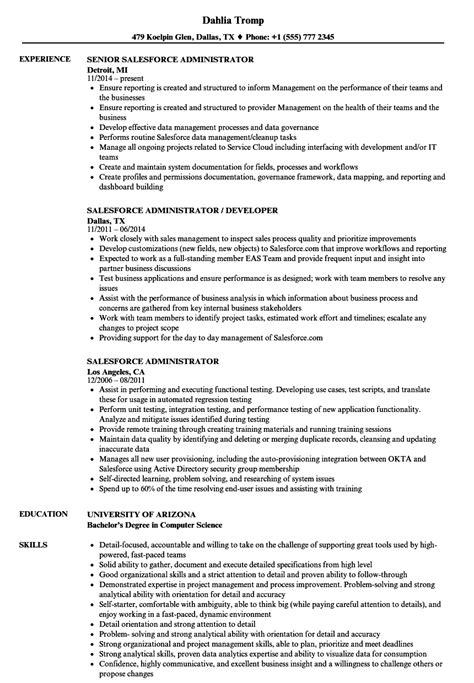 Salesforce Administrator Resume Samples | Velvet Jobs