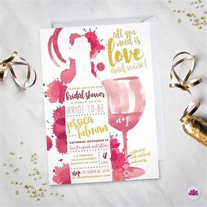 all you need is love wine bridal shower invitation With wine themed wedding shower invitations