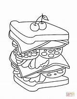 Sandwich Kleurplaat Coloring Colouring Clipart Broodje Steak Sheet Sandwiches Printable Huiswerk Colorare Kleurplaten Colorear Supercoloring Dibujo Disegno Gratis Donalds Mcdonald sketch template
