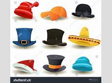 Caps Top Hats Other Head Wear Stock Vector 130557716