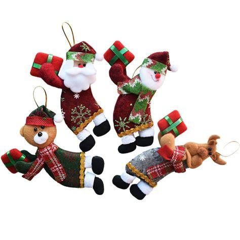 4pcs lot santa dolls gifts pendant sale christmas tree