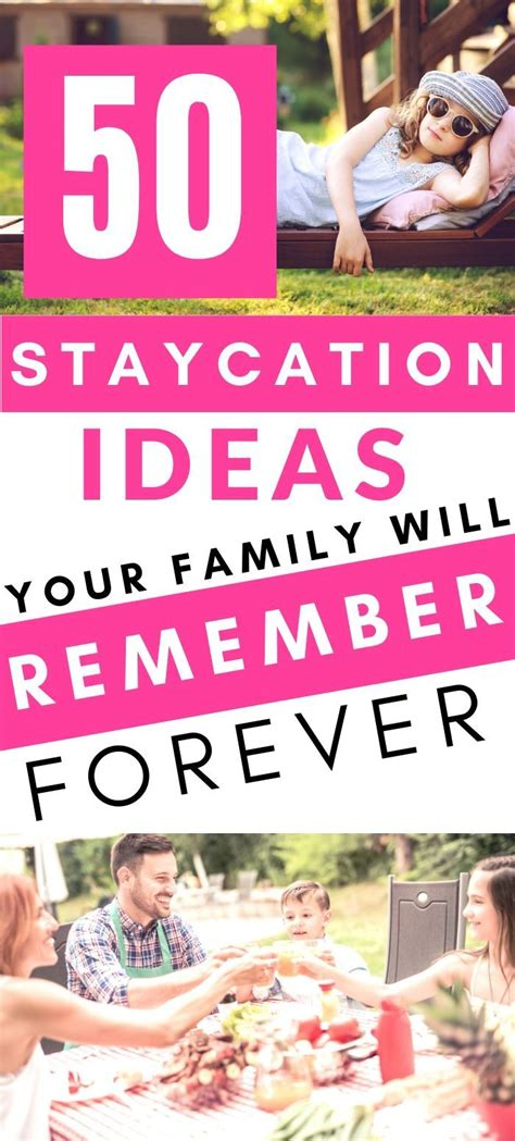 50 Staycation Ideas {Social Distancing Options Included