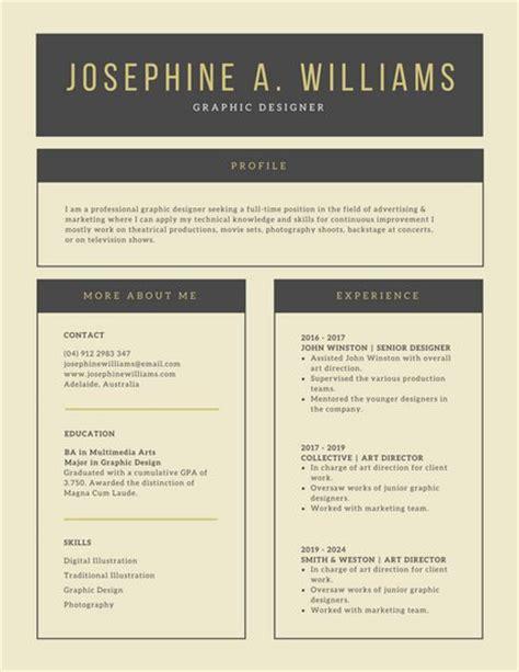 executive classic resume template sle curriculum vitae