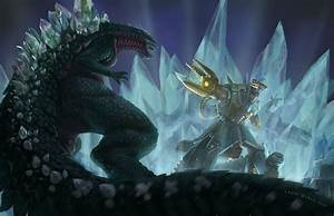 Larry T Quach's Art Blog: Space Godzilla vs Moguera and ...