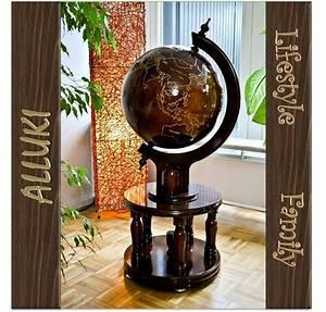 Globus Mit Bar : gro er globus standglobus aus gummibaumholz minibar bar globusbar barglobus ebay ~ Sanjose-hotels-ca.com Haus und Dekorationen