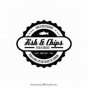 Badge of fish and chips resturant Vector | Free Download