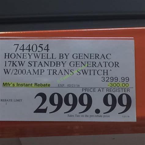 honeywell  generac kw standby generator model