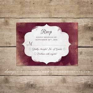 red and cream indian wedding invitation wine watercolor With maroon watercolor wedding invitations