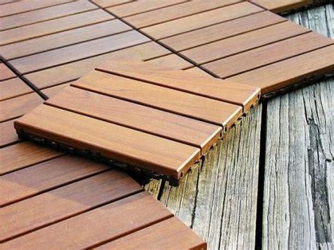 interlocking deck tiles, could be on a raised platform