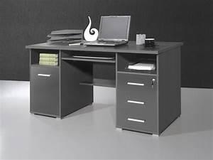 Schreibtisch 100 X 70 : conni b ro pc computer schreibtisch in anthrazit 145 x 75 x 70 arbeitszimmer b ro praxis ~ Bigdaddyawards.com Haus und Dekorationen