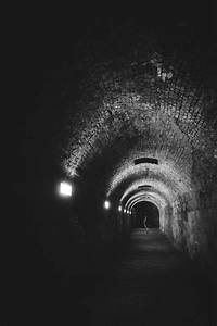 Free Images : light, black and white, night, alone, tunnel ...