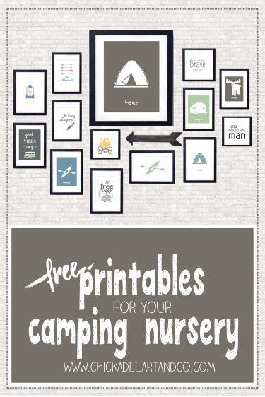 cing free printables nursery wall chickadees and