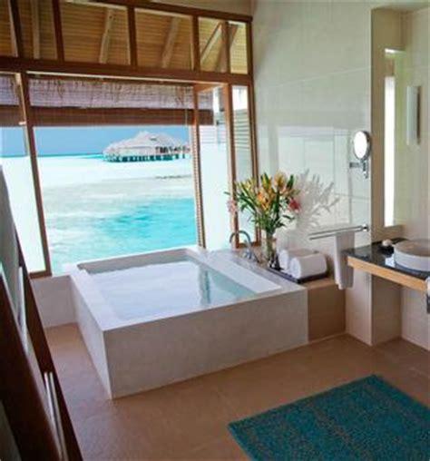 beautiful overwater resort bathrooms