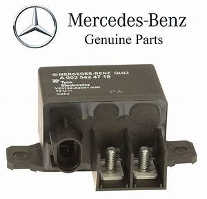 Mercedes Cls500 E320 E350 Auxiliary Battery Overload Relay Genuine 002 542 47 19
