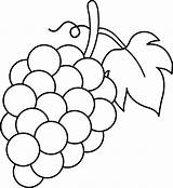 Grapes Coloring Pages Grape Fruit Drawing Bestcoloringpagesforkids sketch template