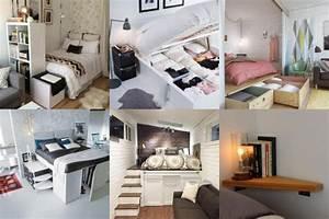 Einrichtungsideen Für Schlafzimmer : 15 clevere einrichtungsideen f r ein kleines schlafzimmer ~ Sanjose-hotels-ca.com Haus und Dekorationen