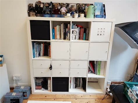 Storage Cupboards Ikea by Ikea Kallax Large Storage Unit With Drawers And Cupboards