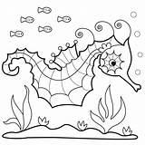 Seahorse Coloring Sea Horse Printable Horses Seahorses Ocean Colouring Adults Pattern Bunnycup Sheets Realistic Crafts Patterns Getdrawings Clipart Getcolorings sketch template