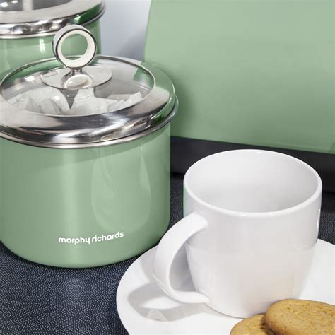 kitchen storage tins morphy richards tea coffee sugar biscuit cake kitchen 3189