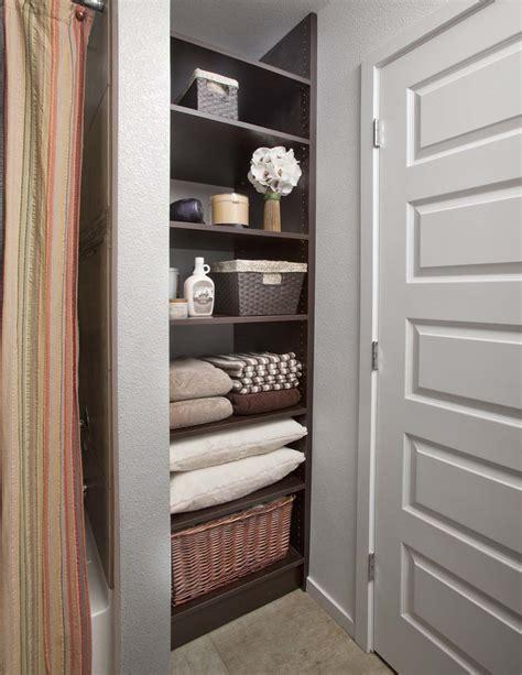 bathroom closet organization special spaces organizers