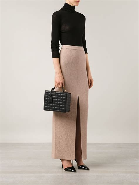 lyst mark cross large grace quilted box bag  black
