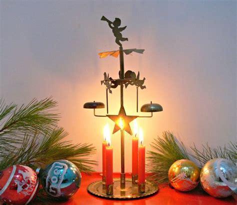 vintage swedish angel chimes  candles brass
