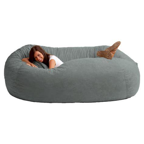 fuf 7 ft comfort suede bean bag sofa bean bags at hayneedle