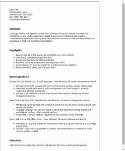 Vendor management resume sample resume ideas for Vendor management program template