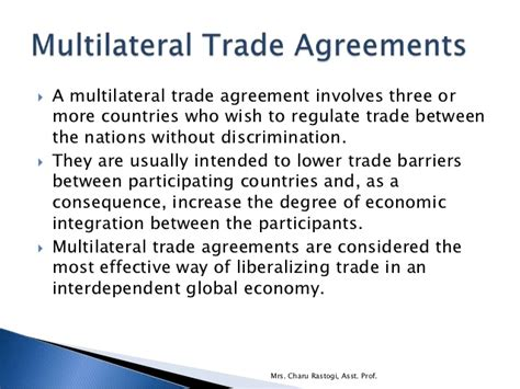 trade laws bilateral  multilateral trade agreements