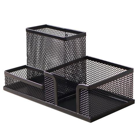 desk hutch organizer black steel mesh desk organizer set desktop supply caddy and pen