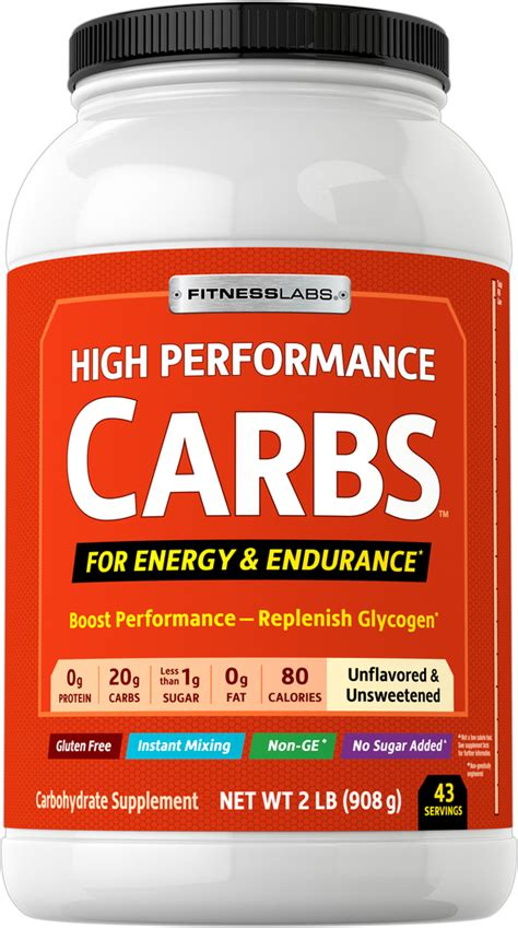 High Performance Carbs Unflavored, 2 lb (908 g) | Piping ...