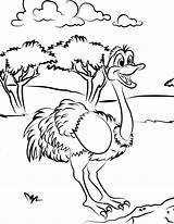 Ostrich Coloring Printable Animal Bestcoloringpagesforkids Sheets Cartoon Animals Deviantart Popular sketch template