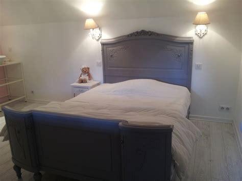 salle de bain chambre chambre esprit shabby photo 7 13 lit ancien repeint en