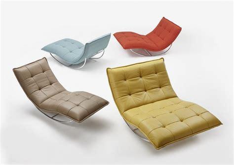 chaise longue cuir chaise longue de relaxation rockme en cuir avec support