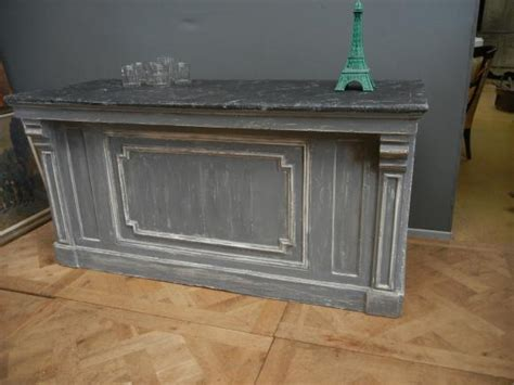 antique counter for ancien comptoir de magasin peint 7489