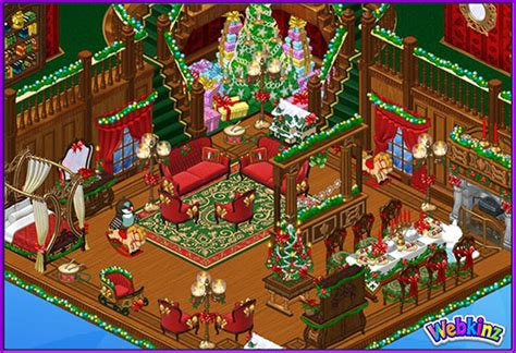 New Victorian Christmas Room Theme Has Arrived In Webkinz