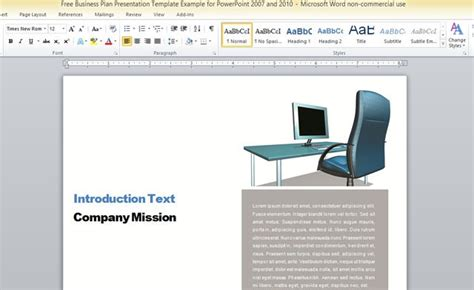 business report template  microsoft word