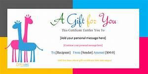 template gift certificate http webdesign14com With birthday gift certificate template free download