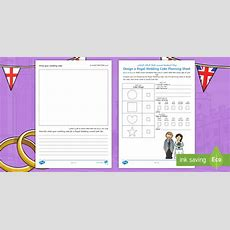 * New * Ks1 Design A Royal Wedding Cake Planning Activity Sheet